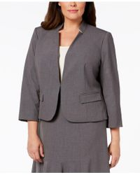 Nine West - Plus Size Inverted-notch-collar Jacket - Lyst