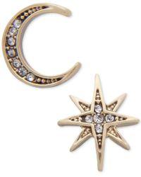 Lonna & Lilly - Gold-tone Moon & Stars Mismatch Earrings - Lyst