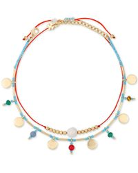 Lucky Brand - Gold-tone 2-pc. Set Disc & Bead Anklets, Created For Macy''s - Lyst