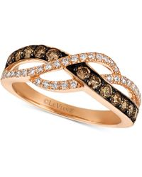 Le Vian - Chocolatier® Diamond Crisscross Ring (5/8 Ct. T.w.) In 14k Rose Gold - Lyst
