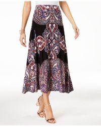 INC International Concepts - I.n.c. Printed Midi Skirt, Created For Macy's - Lyst