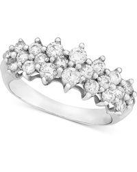 Macy's - 14k White Gold Ring, Diamond (1 Ct. T.w.) - Lyst