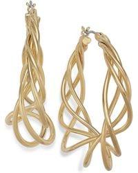 Charter Club - Gold-tone Spiral Hoop Earrings - Lyst