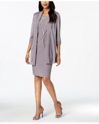 R & M Richards - Necklace Dress & Metallic-trim Jacket - Lyst