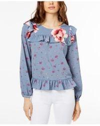 JILL Jill Stuart - Floral-print Ruffled Top, Created For Macy's - Lyst