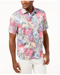 Tommy Bahama - Men's Fuego Floral Knit Camp Shirt - Lyst