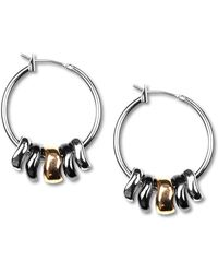 Nine West - Earrings, Tri-tone Shaky Hoop Earrings - Lyst