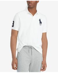 Polo Ralph Lauren - Big   Tall Classic Fit Big Pony Mesh Cotton Polo - Lyst 6e17ba1e0435e