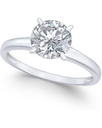 Arabella - 14k White Gold Ring, Swarovski Zirconia Solitaire Engagement Ring (3-1/3 Ct. T.w.) - Lyst