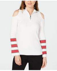 INC International Concepts - I.n.c. Zip-front Cold-shoulder Sweater, Created For Macy's - Lyst