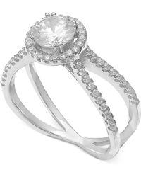 Giani Bernini   Cubic Zirconia Crisscross Ring In Sterling Silver   Lyst