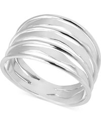 Touch Of Silver - Silver-plated Ring, Twist Ring - Lyst