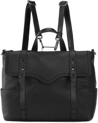 The Sak Heritage Leather Convertible Backpack - Black