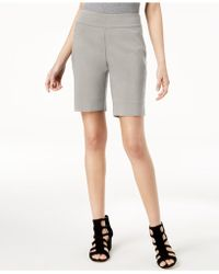 INC International Concepts - I.n.c. Curvy-fit Stud-trim Bermuda Shorts, Created For Macy's - Lyst