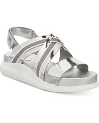 Cole Haan - Zerogrand Chris Cross Wedge Sandals - Lyst