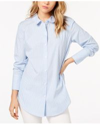 Kensie - Cotton Striped Shirt - Lyst