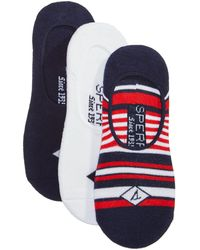 Sperry Top-Sider - Men's 3-pk. Cushioned Performance Sock Liners - Lyst