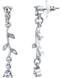 2028 - Silver-tone Crystal Vine Drop Earrings - Lyst