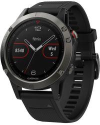Garmin - Unisex Fenix® 5 Black Silicone Strap Gps Smart Watch 47mm - Lyst