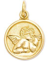 Macy's - 14k Gold Charm, Polished Angel Charm - Lyst