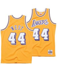 6236571dabe Mitchell   Ness - Jerry West Los Angeles Lakers Hardwood Classic Swingman  Jersey - Lyst