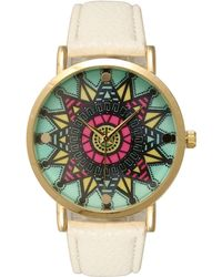 Olivia Pratt - Mandala Leather Strap Watch - Lyst
