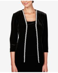 Alex Evenings - Sequined Velvet Jacket & Top - Lyst