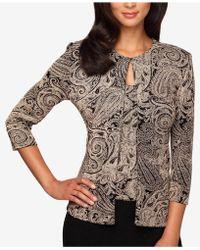 Alex Evenings - Plus Size Glitter-print Jacket & Shell - Lyst
