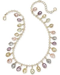 """Charter Club - Gold-tone Shaky Imitation Pearl Collar Necklace, 17"""" + 2"""" Extender, Created For Macy's - Lyst"""