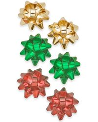 Charter Club - Gold-tone 3-pc. Set Gift Bow Stud Earrings, Created For Macy's - Lyst