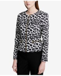 Calvin Klein   Animal-print Jacket   Lyst