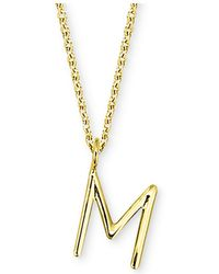 "Sarah Chloe - Amelia Initial 16"" Pendant Necklace In 14k Gold - Lyst"