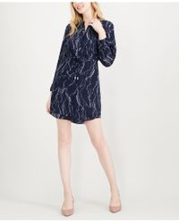 Maison Jules - Printed Split-neck Shirtdress, Created For Macy's - Lyst