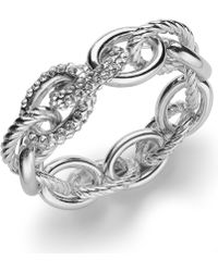 INC International Concepts - Rose Gold-tone Pavé Link Stretch Bracelet - Lyst