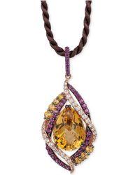Le Vian - Multi-stone Pendant Necklace (12-1/3 Ct. T.w.) In 14k Rose Gold - Lyst