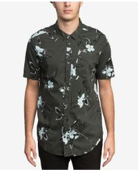 RVCA - Moonflower Floral-print Pocket Shirt - Lyst