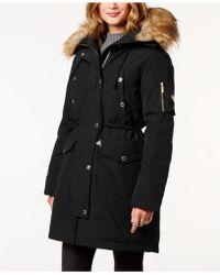 Michael Kors - Michael Faux-fur-trim Hooded Down Parka Coat - Lyst