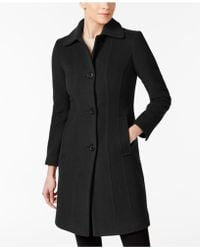 Anne Klein | Club-collar Wool-blend Walker Coat | Lyst
