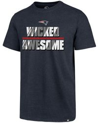 47 Brand - New England Patriots Wicked Awesome Club T-shirt - Lyst