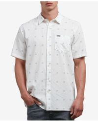 Volcom - Trenton Geometric Print Shirt - Lyst