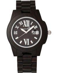 Earth Wood - Heartwood Wood Bracelet Watch W/date Brown 43mm - Lyst