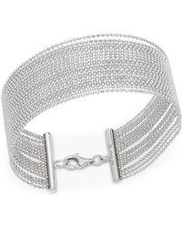 Macy's - Beaded Multi-row Bracelet In Sterling Silver - Lyst