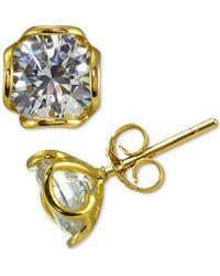 Giani Bernini - Cubic Zirconia Wavy Edge Stud Earrings - Lyst