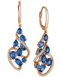 Le Vian - ® Blueberry Sapphiretm (3-1/4 Ct. T.w.) & Diamond (1/3 Ct. T.w.) Drop Earrings In 14k Rose Gold - Lyst
