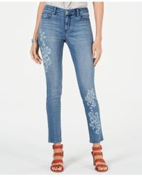 Style & Co. - Floral-embellished Skinny Jeans, Created For Macy's - Lyst