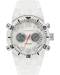 Sean John - Men's Analog-digital Lenox White Silicone Strap Watch 46mm - Lyst