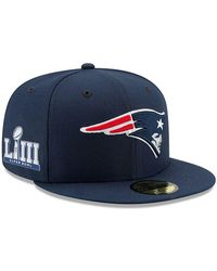 753499017d73cd KTZ - New England Patriots Super Bowl Liii Team Basic Patch 59fifty Fitted  Cap - Lyst