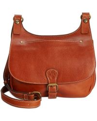 Patricia Nash - Heritage London Smooth Leather Crossbody Saddle Bag - Lyst