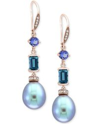 Effy Collection - Effy® Blue Cultured Freshwater Pearl (12 X 10mm) - Lyst