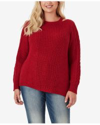 c58a34d2f331d Jessica Simpson - Trendy Plus Size Oasis Cutout-neck Sweater - Lyst